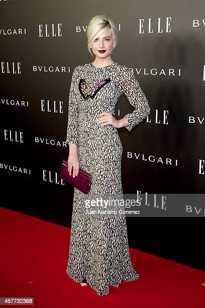 Miriam Giovanelli attends 'Elle Style Awards 2014' photocall at Italian Embassy on October 23 2014 in Madrid Spain