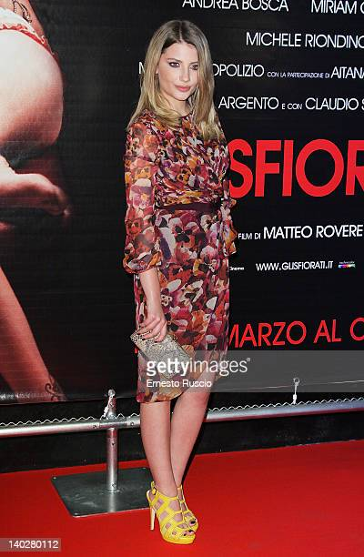 Miriam Giovanelli attends the 'Gli Sfiorati' premiere at Cinema Barberini on March 1 2012 in Rome Italy