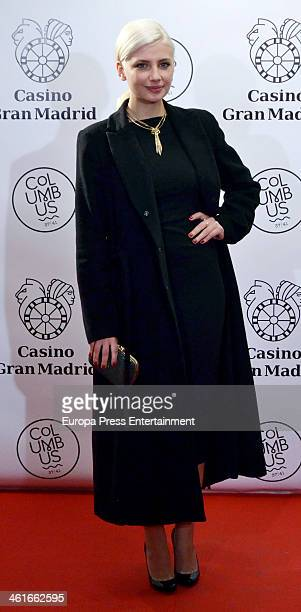 Miriam Giovanelli attends the opening of 'Casino Gran MadridColon' on January 9 2014 in Madrid Spain
