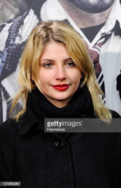 Miriam Giovanelli attends the premiere of 'Balada Triste de Trompeta' at Capitol Cinema on December 15 2010 in Madrid Spain