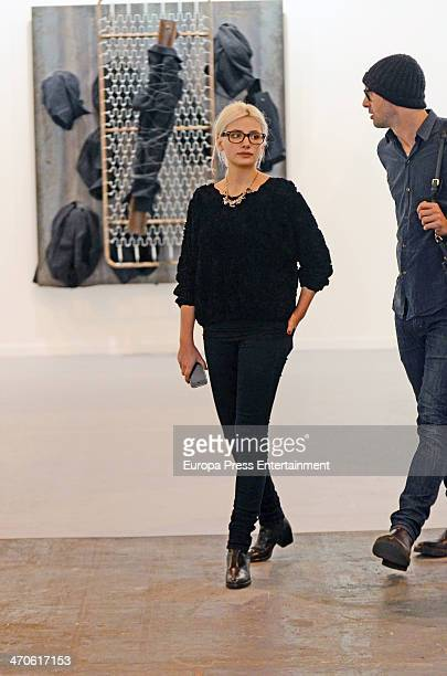 Miriam Giovanelli is seen at ARCO Contemporary Art Fair at Ifema on February 19 2014 in Madrid Spain