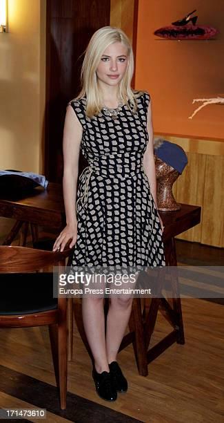 Miriam Giovanelli is seen on set filming 'Galerias Velvet' on June 24 2013 in Madrid Spain