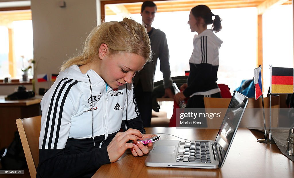 Miriam Goessner attends the german media day at Lisensky Dvur Hotel on February 11, 2013 in Nove Mesto na Morave, Czech Republic.