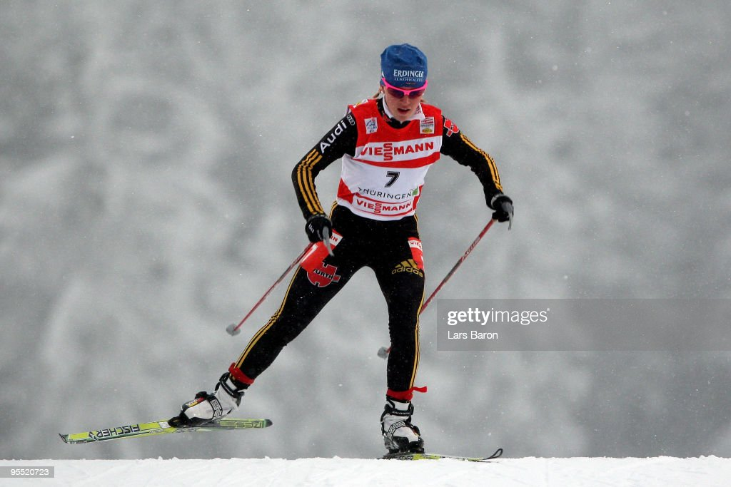 Miriam Goessner of Germany competes during the Women's 2,5km Prologue of the FIS Tour De Ski at the DKB Arena on January 1, 2010 in Oberhof, Germany.