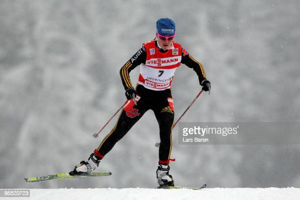 Miriam Goessner of Germany competes during the Women's 25km Prologue of the FIS Tour De Ski at the DKB Arena on January 1 2010 in Oberhof Germany