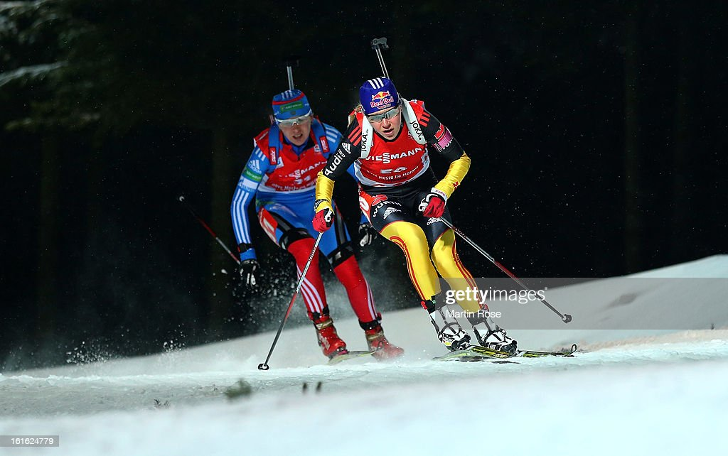 Miriam Goessner of Germany competes in the Women's 15km Individual during the IBU Biathlon World Championships at Vysocina Arena on February 13, 2013 in Nove Mesto na Morave, Czech Republic.