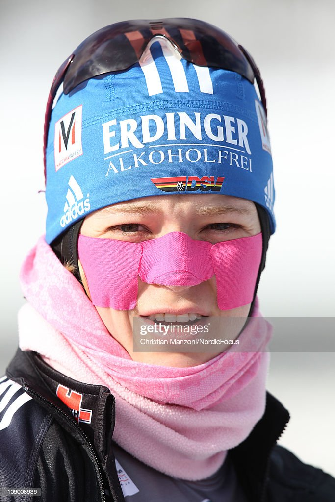 Miriam Goessner of Germany competes in the women's sprint during the E.ON IBU Biathlon World Cup on February 11, 2011 in Fort Kent, United States.