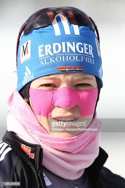 Miriam Goessner of Germany competes in the women's sprint during the EON IBU Biathlon World Cup on February 11 2011 in Fort Kent United States