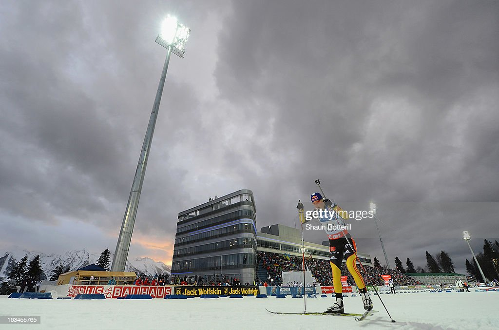 Miriam Gossner of Germany competes in the Women's 4x6km Relay event at theBiathlon & Ski Complex on March 10, 2013 in Sochi, Russia.