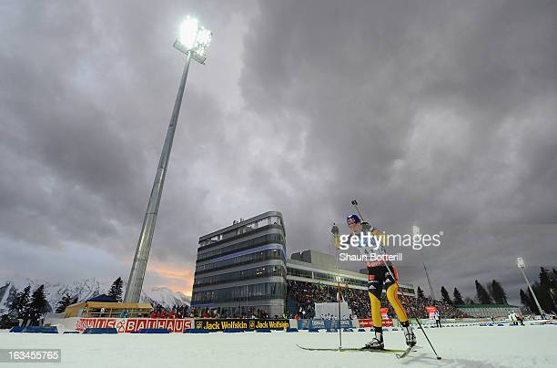 Miriam Gossner of Germany competes in the Women's 4x6km Relay event at theBiathlon Ski Complex on March 10 2013 in Sochi Russia