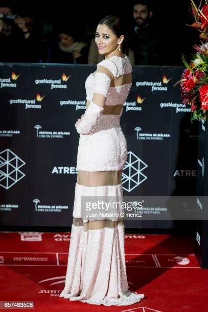Miriam Hernandez attends the 'El Jugador de Ajedrez' premiere on day 5 of the 20th Malaga Film Festival at the Cervantes Theater on March 24 2017 in...