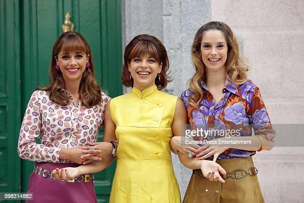 Miriam Hernandez Thais Blume and Katia Klein attend 'Amar Es Para Siempre' photocall at Cars Studios on August 31 2016 in Madrid Spain