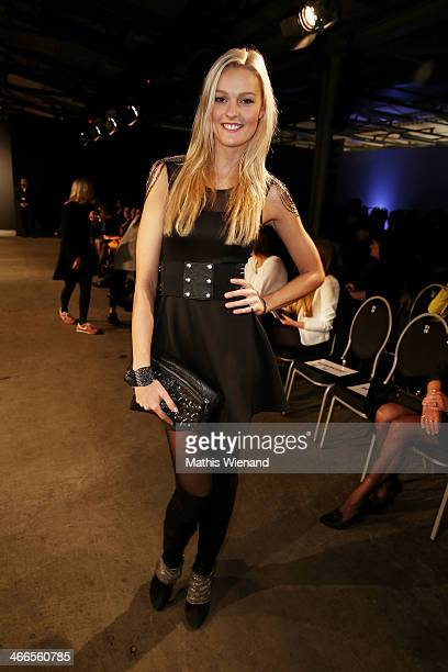 Miriam Hoeller attends the Maison Anoufa fashion show during Platform Fashion Dusseldorf on February 2 2014 in Dusseldorf Germany