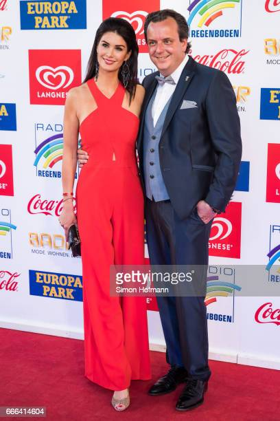 Miriam Ivancan and her husband Michael Mack attend the Radio Regenbogen Award 2017 at Europapark on April 7 2017 in Rust Germany