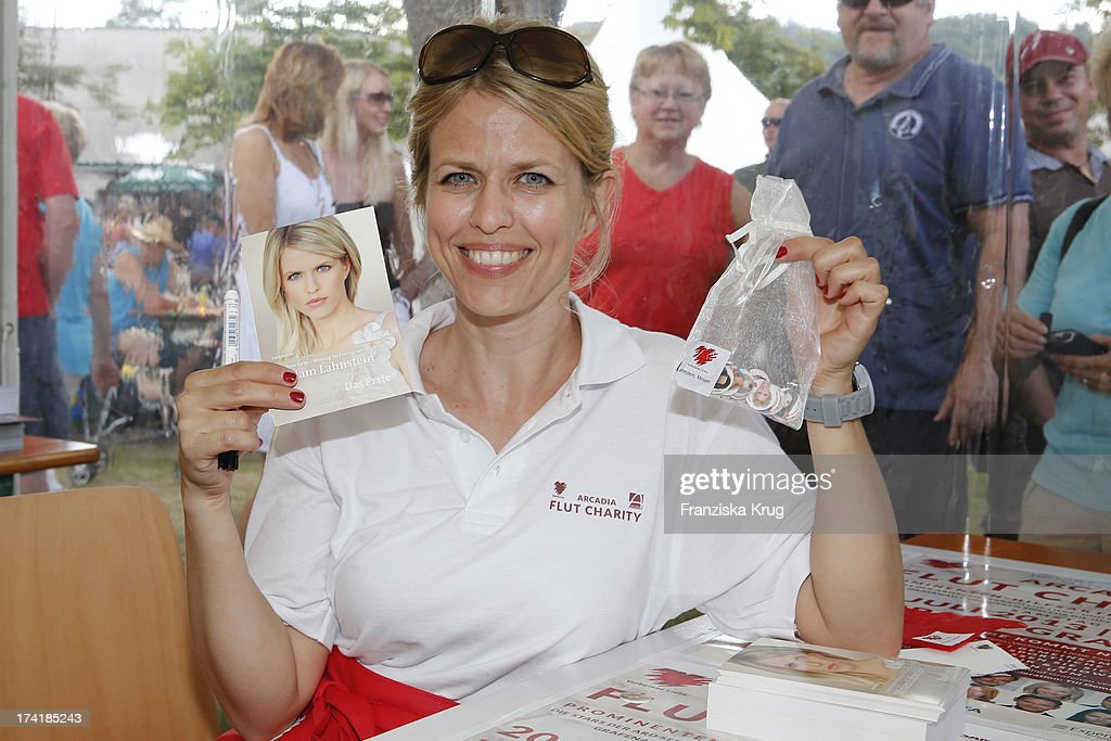 Miriam Lahnstein attends the Charity Event Benefitting Flood Victims on July 20, 2013 in Grafenau, Germany.