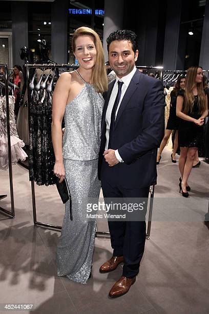 Miriam Lange and Shahin Moghadam attend the Unique Flagship Store Opening at the new 'Koe Bogen' on November 28 2013 in Duesseldorf Germany