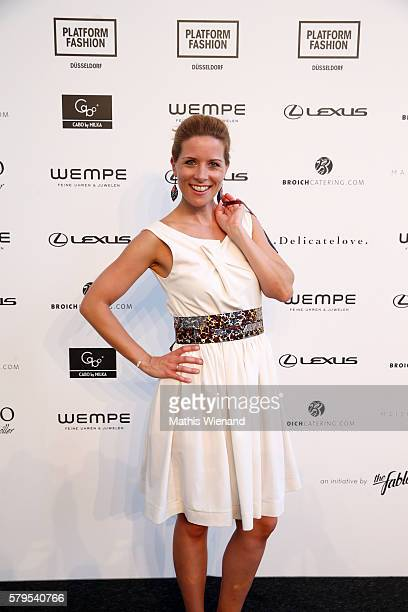 Miriam Lange attends the Platform Fashion Selected show during Platform Fashion July 2016 at Areal Boehler on July 24 2016 in Duesseldorf Germany