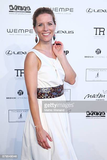 Miriam Lange attends the Thomas Rath show during Platform Fashion July 2016 at Areal Boehler on July 24 2016 in Duesseldorf Germany