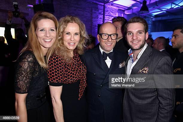 Miriam Lange Katja Burkard Thomas Rath and Julian Eissrich attend the Thomas Rath fashion show during Platform Fashion Dusseldorf on February 2 2014...