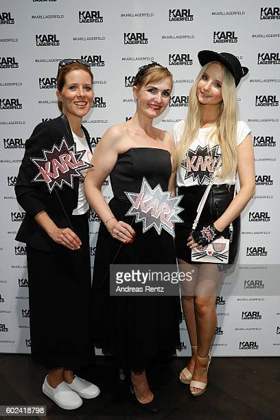 Miriam Lange Store Manager Nicole Schilling and Anna Hiltrop attend KARL LAGERFELD at the Vogue Fashion's Night Out on September 9 2016 in...