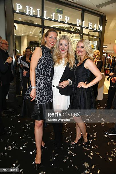 Miriam Lange Tanja Comba Jennifer Knaeble attend the Philipp Plein Store Event on June 2 2016 in Duesseldorf Germany