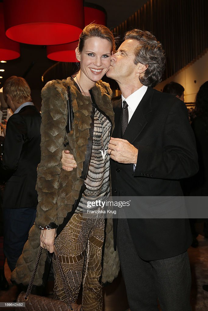 Miriam Langenscheidt and Florian Langenscheidt attend the 'Peuterey Cocktail Party' at Peuterey flagship store Kurfuerstendamm on January 15, 2013 in Berlin, Germany.