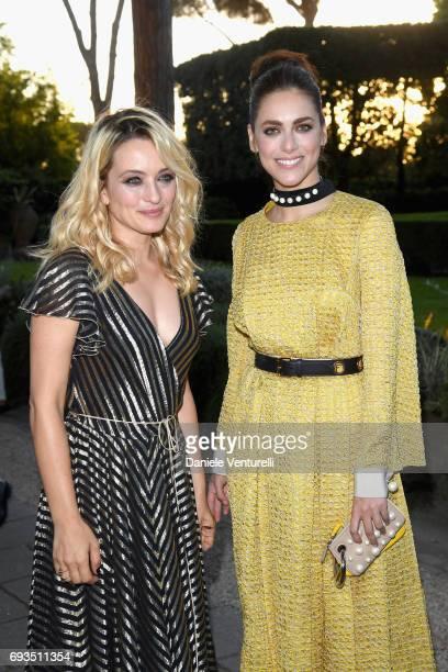 Miriam Leone and Carolina Crescentini attend McKim Medal Gala at Villa Aurelia on June 7 2017 in Rome Italy