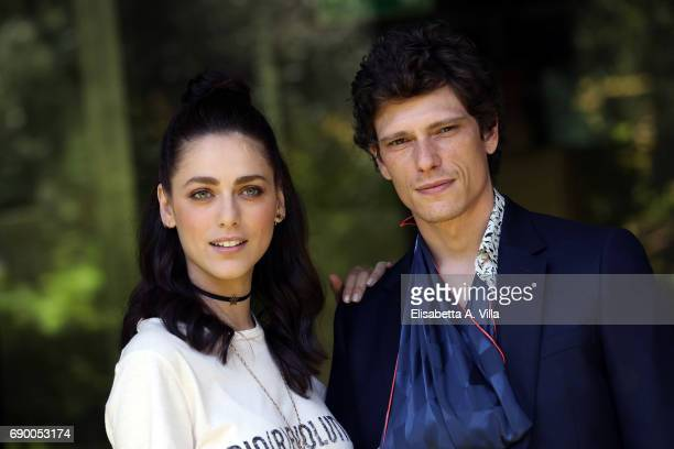 Miriam Leone and Matteo Martari attend a photocall for 'Non Uccidere' on May 30 2017 in Rome Italy