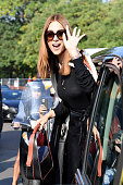 Tod's - Outside Arrivals - Milan Fashion Week - Spring...