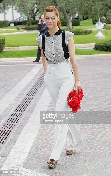 Miriam Leone attends the Palinsesti Rai photocall at Cavalieri Hilton Hotel on June 20 2012 in Rome Italy