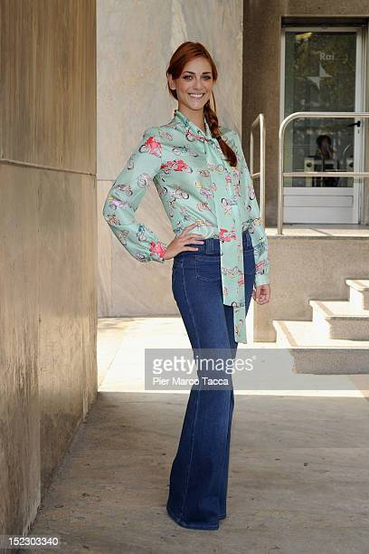 Miriam Leone attends the 'Wikitaly' Italian Tv show photocall on September 18 2012 in Milan Italy