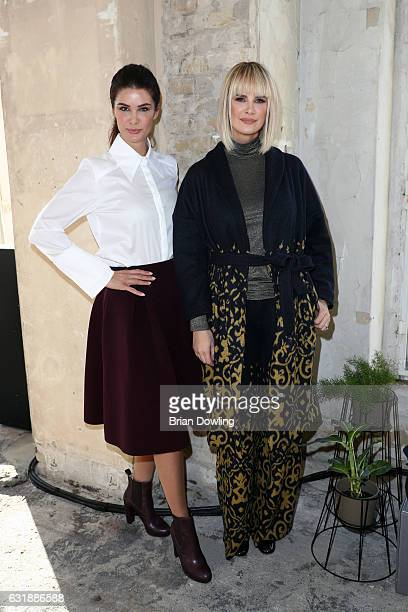 Miriam Mack and Monica Ivancan attend the holyGhost show during the MercedesBenz Fashion Week Berlin A/W 2017 at Kaufhaus Jandorf on January 17 2017...