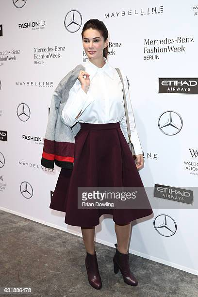 Miriam Mack attends the holyGhost show during the MercedesBenz Fashion Week Berlin A/W 2017 at Kaufhaus Jandorf on January 17 2017 in Berlin Germany