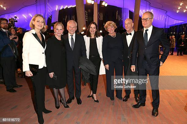 Miriam Meckel Ruediger Grube CEO Die Bahn and his wife Cornelia Poletto and Anne Will Monika Gruetters Minister for culture and media Jacques Herzog...