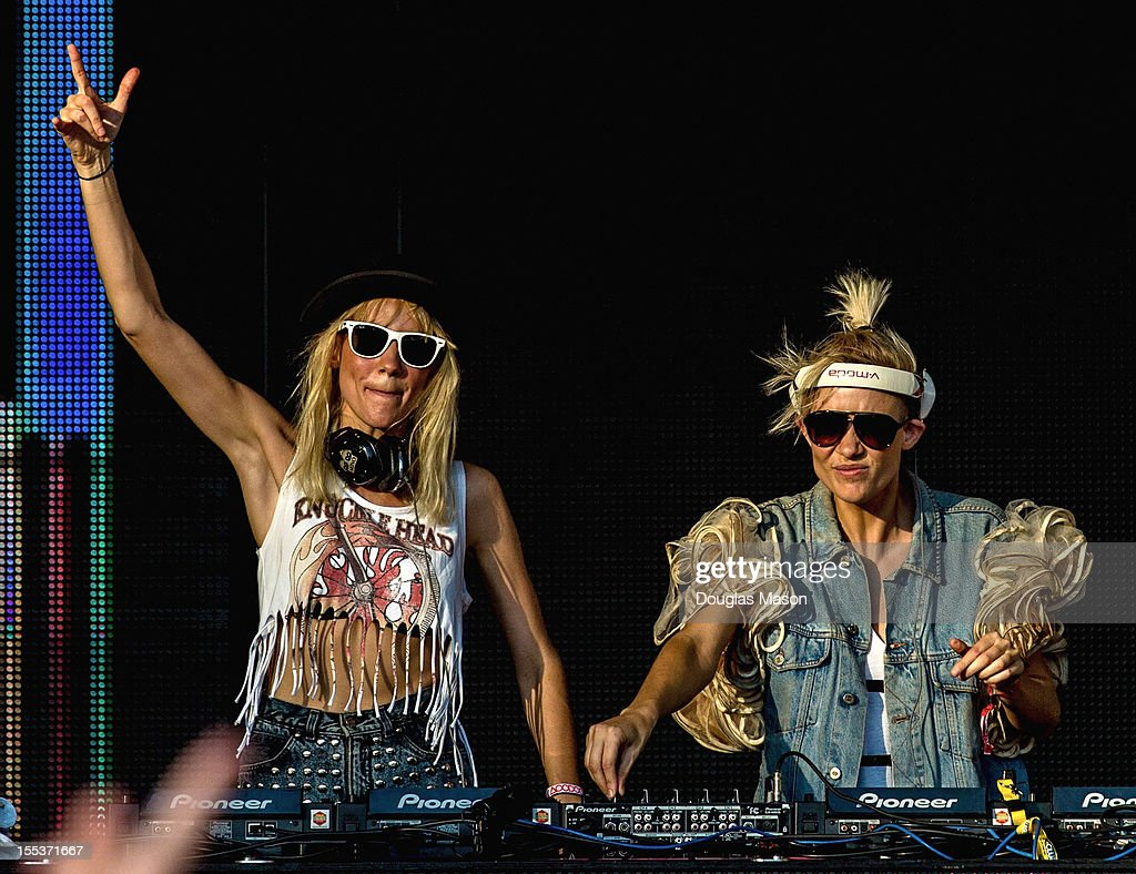 Miriam Nervo and Olivia Nervo perform during the 2012 Voodoo Experience at City Park on October 26, 2012 in New Orleans, Louisiana.