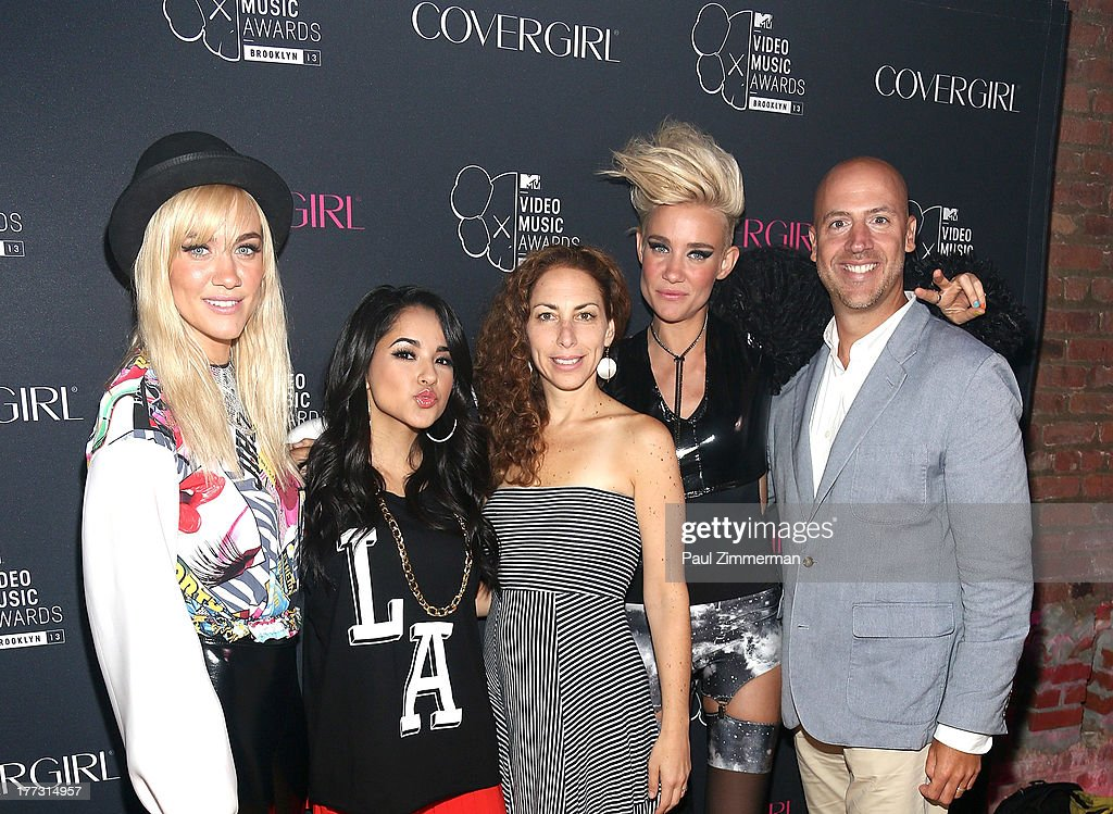Miriam Nervo, Becky G, SVP of Integrated Marketing for MTV Rachel Baumgarten, Olivia Nervo and EVP Integrated Marketing, Viacom Media Networks, Music and Entertainment Dario Spina attend Easy, Breezy, Brooklyn hosted by Becky G and presented by MTV and COVERGIRL at Music Hall of Williamsburg on August 22, 2013 in the Brooklyn borough of New York City.