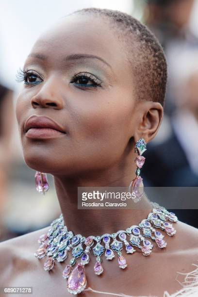 Miriam Odemba attends the 'Based On A True Story' screening during the 70th annual Cannes Film Festival at Palais des Festivals on May 27 2017 in...