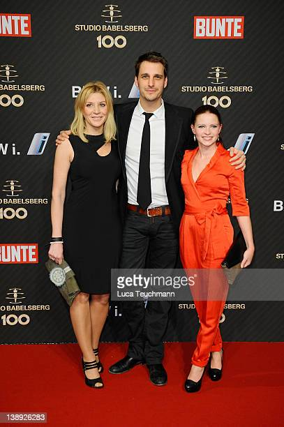 Miriam Pede Max von Thun Jennifer Ulrich attend the Babelsberg 100th Anniversary Party during day five of the 62nd Berlin International Film Festival...