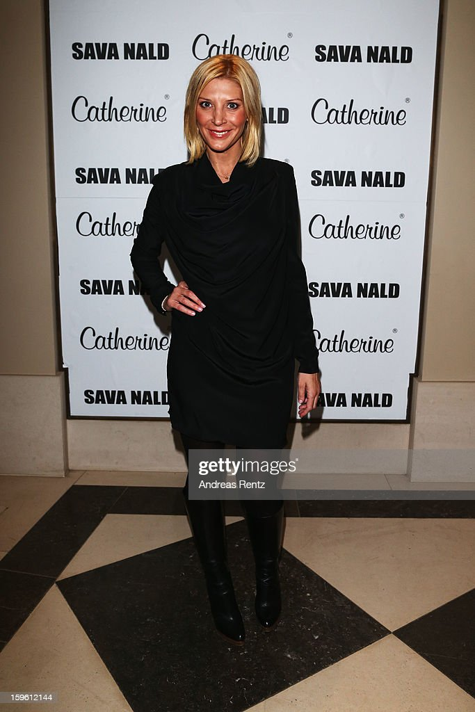 Miriam Pedel attends Sava Nald Autumn/Winter 2013/14 fashion show during Mercedes-Benz Fashion Week Berlin at Hotel Adlon Kempinski on January 17, 2013 in Berlin, Germany.