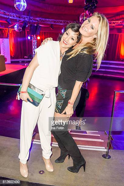 Miriam Pielhau and Magdalena Brzeska attend the 'Holiday on Ice Passion' Berlin Premiere Party on February 26 2016 in Berlin Germany