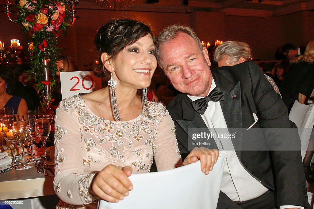 Miriam Pielhau and Michael Kubenz attend the Rosenball 2016 on April 30, 2016 in Berlin, Germany.