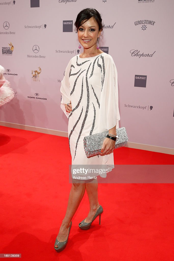 Miriam Pielhau arrives at Tribute To Bambi at Station on October 17, 2013 in Berlin, Germany.