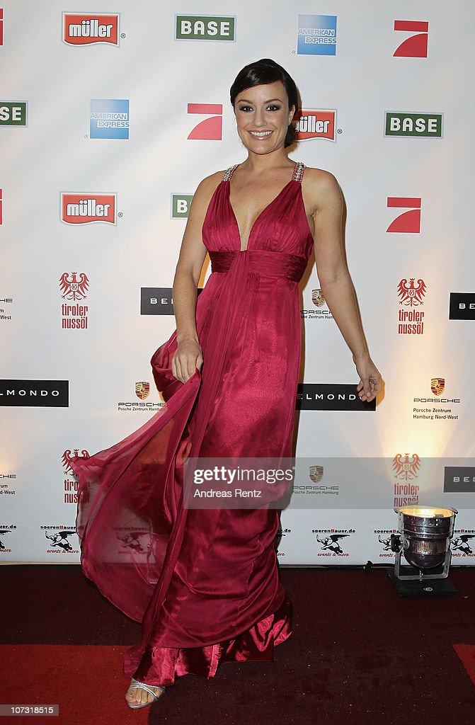 Miriam Pielhau attends the 'Movie meets Media' Night at Hotel Atlantic on December 3 2010 in Hamburg Germany