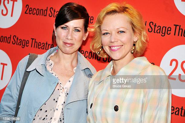 Miriam Shor and Emily Bergl attend The Opening Night of 'By the Way Meet Vera Stark' OffBroadway at the Second Stage Theatre on May 9 2011 in New...