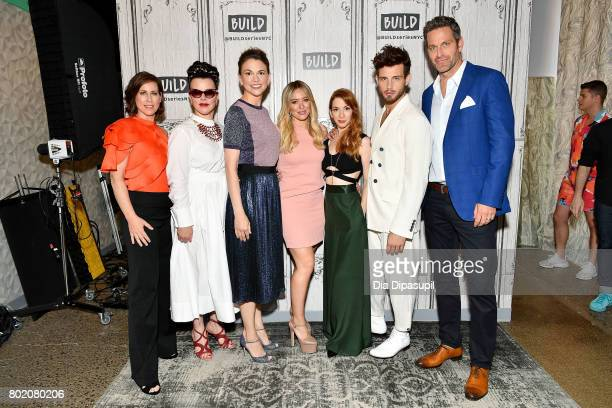 Miriam Shor Debi Mazar Sutton Foster Hilary Duff Molly Bernard Nico Tortorella and Peter Hermann visit Build to discuss 'Younger' at Build Studio on...