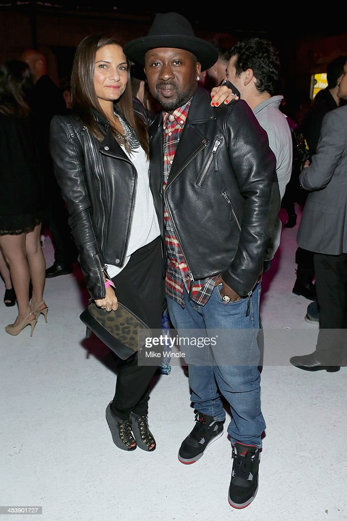 Miriam Sternoff (L) and O'neal McKnight attend NYLON + McDonald's Dec/Jan issue launch party, hosted by cover star Demi Lovato on December 5, 2013 in West Hollywood, California.