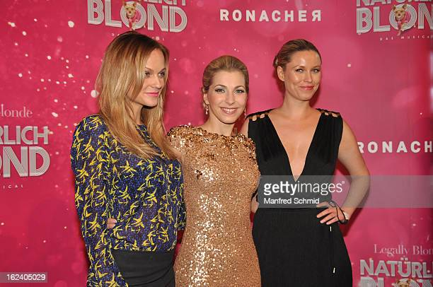 Miriam Weichselbraun Barbara Obermeier and model Kiera Chaplin attend the after party for the premiere of 'Natuerlich Blond' held at the Rathaus on...