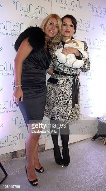 Miriana Trevisan and Licia Angeli attend the Nanan Flagship Store Opening on January 27 2011 in Rome Italy