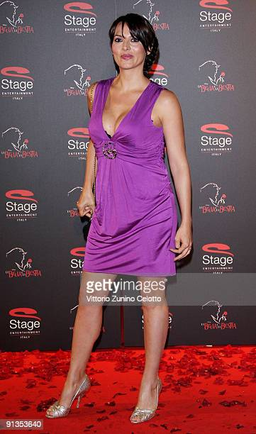 Miriana Trevisan attends La Bella E La Bestia Red Carpet held at Teatro Nazionale on October 2 2009 in Milan Italy