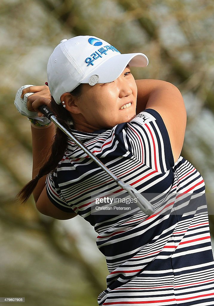Mirim Lee of South Korea hits a tee shot on the fourth hole during the first round of the JTBC LPGA Founders Cup at Wildfire Golf Club on March 20, 2014 in Phoenix, Arizona.